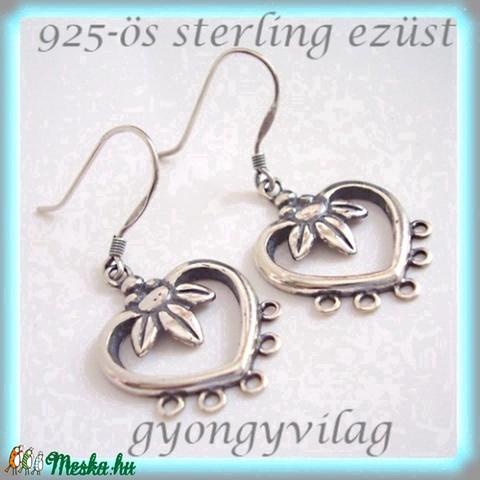 925-ös finomságú sterling ezüst fülbevaló kapocs EFK A 19  - gyöngy, ékszerkellék - egyéb alkatrész - Meska.hu