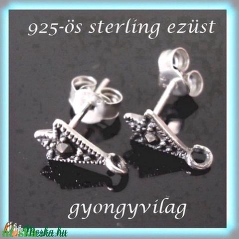 925-ös ezüst fülbevaló kapocs EFK B 02 - Meska.hu