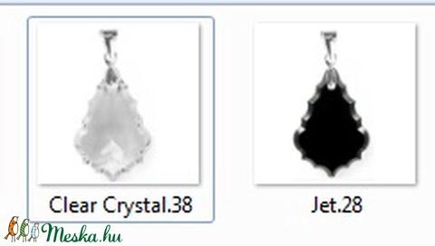 Swarovski kristály medál -50mm-es barokk  több színben  - Meska.hu