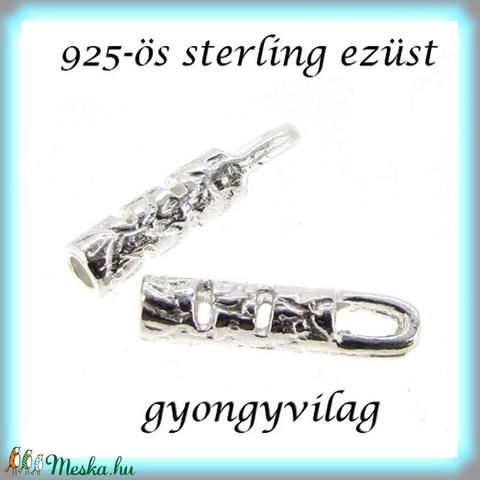 925-ös ezüst  lánckapocsvég 1mm-es 2db/cs ELK V 11 - Meska.hu