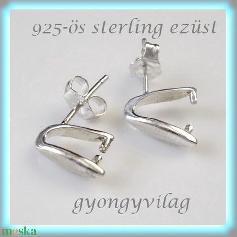 925-ös ezüst fülbevaló kapocs EFK B  18  -1 - Meska.hu