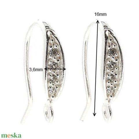 925-ös finomságú sterling  ezüst fülbevaló kapocs EFK A 45/1 - gyöngy, ékszerkellék - egyéb alkatrész - Meska.hu