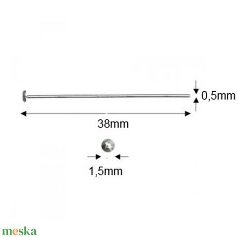 Silver Filled szerelőpálca szög végű  50mm x 0,5 mm  5db/cs - Meska.hu