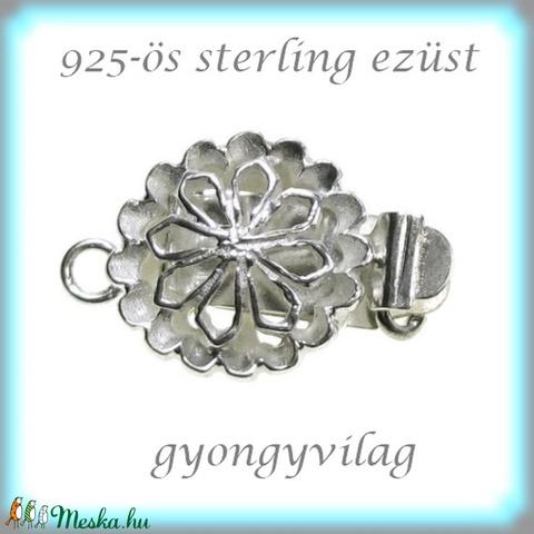 925-ös ezüst 1soros lánckapocs ELK 1S 34 - gyöngy, ékszerkellék - egyéb alkatrész - Meska.hu
