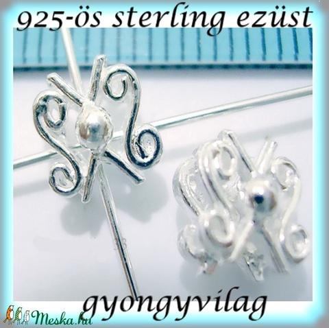 925-ös ezüst köztes / gyöngy / dísz EKÖ 73 - gyöngy, ékszerkellék - fém köztesek - Meska.hu