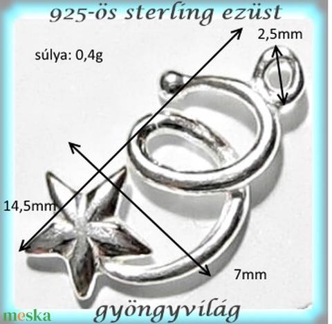 925-ös finomságú sterling ezüst kandeláber/ továbbépíthető köztes /tartó elem  EKA 39 - Meska.hu