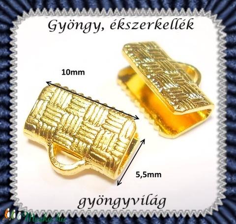 Ékszerkellék: lánckapocs vég / szalag vég  vég 20 db  BLK-V12-10a - gyöngy, ékszerkellék - egyéb alkatrész - Meska.hu