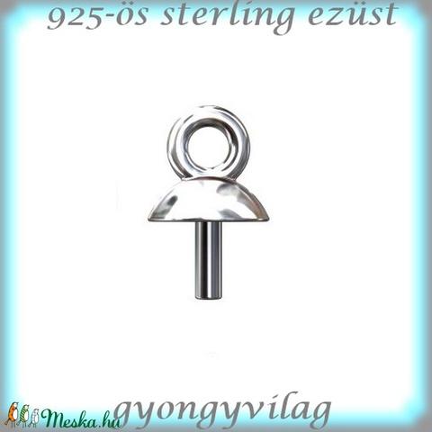 925-ös ezüst medálkapocs EMK 65e 2db/csomag - Meska.hu
