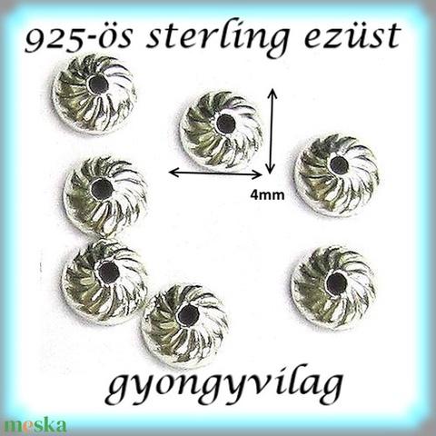 925-ös sterling ezüst gyöngykupak  4db/ csomag  EGYK 33-4   4db/csomag - Meska.hu