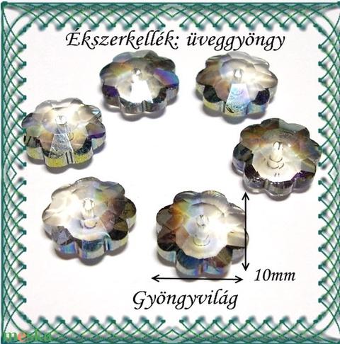 Üveggyöngy- margaréta 10mm több színben - Meska.hu