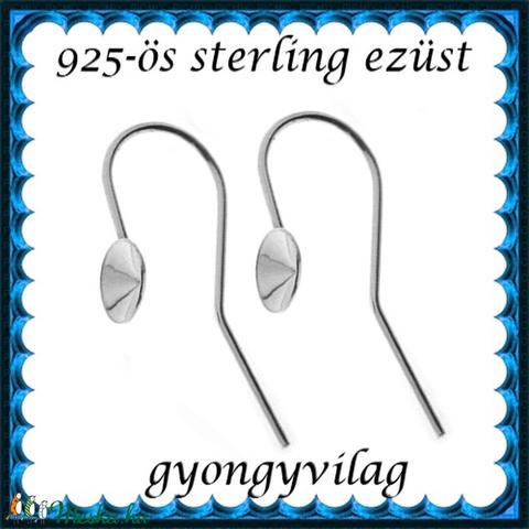 925-ös sterling ezüst ékszerkellék: fülbevalóalap akasztós EFK A 59-5 - Meska.hu
