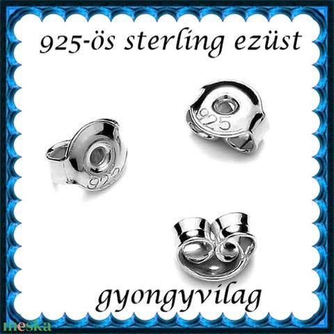 925-ös sterling ezüst ékszerkellék: fülbevalóalap bedugós EFK B 27-5,3e vég - Meska.hu