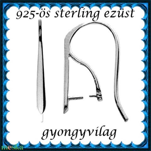 925-ös finomságú sterling ezüst fülbevaló kapocs EFK A 56 - Meska.hu