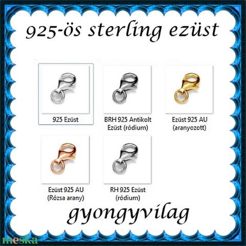 925-ös sterling ezüst ékszerkellék: lánckalocs ELK 1S 19-9e - Meska.hu