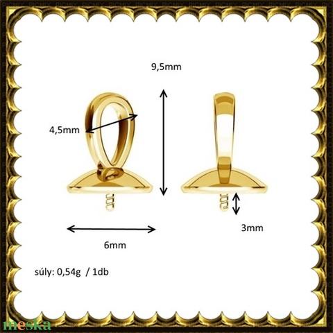 Gold Filled medálkapocs EMK 68 G  - Meska.hu