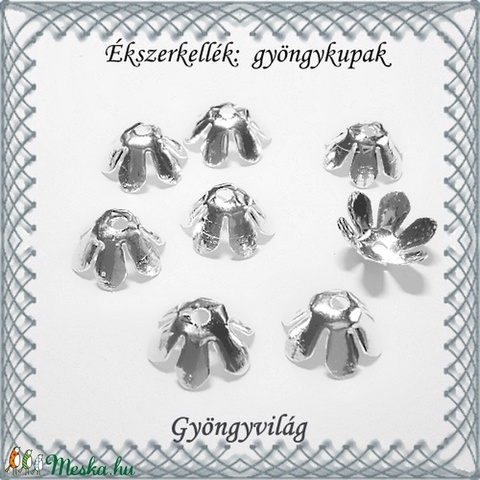 Ékszerkellék: gyöngykupak BGYK 01 8db / csomag - Meska.hu