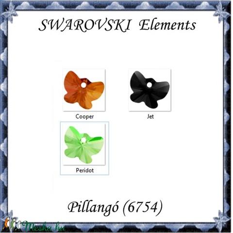 Ékszterkellék: Swarovski pillangó  18 mm-es több színben  - Meska.hu