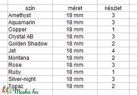 Ékszerkellék: Swarovski DE-ART  18mm-es több színben - gyöngy, ékszerkellék - swarovski kristályok - Meska.hu