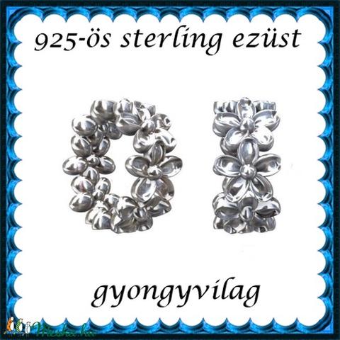 925-ös sterling ezüst ékszerkellék: köztes / gyöngy / dísz EKÖ 66 RH ródiumozott - Meska.hu