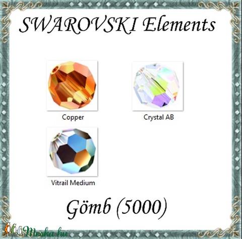 Ékszerkellék: Swarovski kristály gömb 3mm AB bevonatos 4db/csomag több színben - Meska.hu