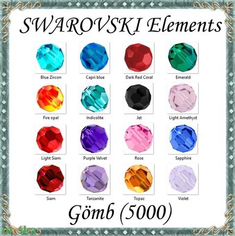 Ékszerkellék: Swarovski kristály gömb 8mm 1db/csomag több színben - gyöngy, ékszerkellék - swarovski kristályok - Meska.hu