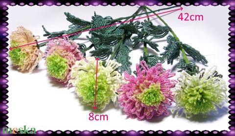 1 szál Gyöngyből készített krizantém több színben GYV05 - otthon & lakás - dekoráció - csokor & virágdísz - Meska.hu