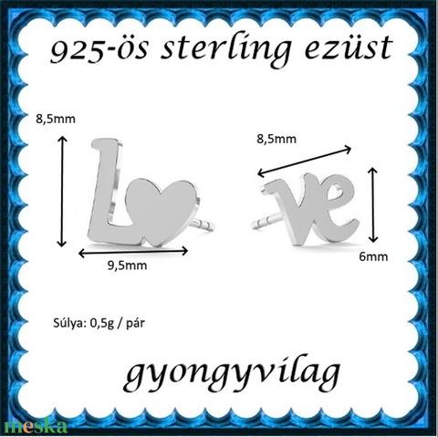 925-ös sterling ezüst ékszerkellék: fülbevaló begugós EF 02 - Meska.hu