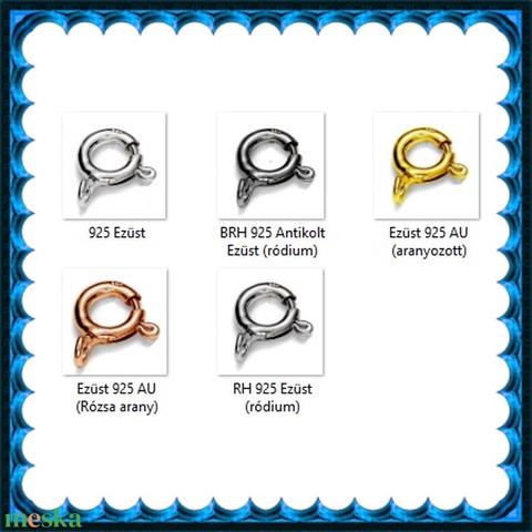 925-ös sterling ezüst ékszerkellék: lánckalocs  ELK 1S 12-9,25 - gyöngy, ékszerkellék - egyéb alkatrész - Meska.hu