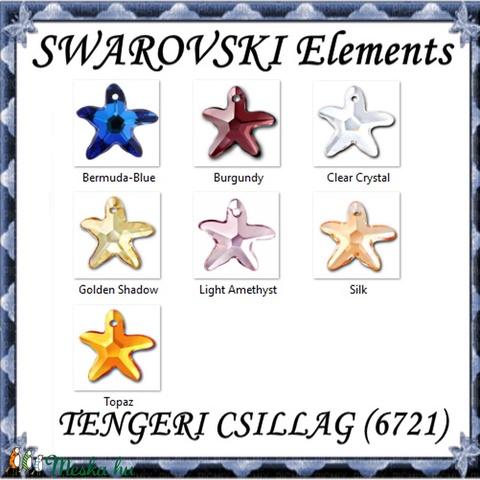 Ékszerkellék: Swarovski tengeri csillag 16mm-es  több színben  - Meska.hu