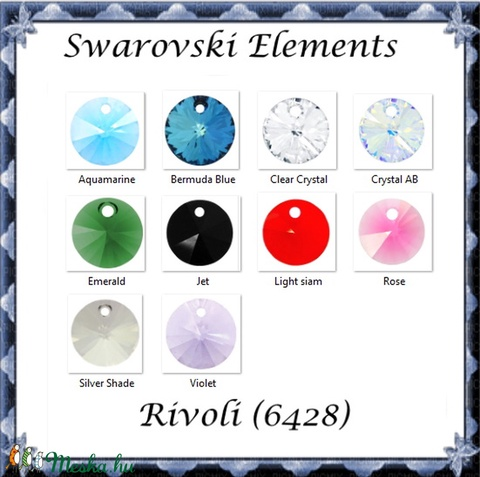 Swarovski rivoli 8mm-es több színben 2db /csomag SW6428-8 - Meska.hu