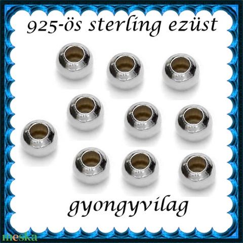 925-ös ezüst köztes / gyöngy / dísz EKÖ 10-2,2 - Meska.hu