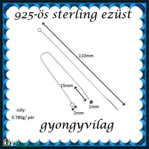 925-ös ezüst fülbevaló kapocs , füllánc EFK BFL 01-110e - Meska.hu