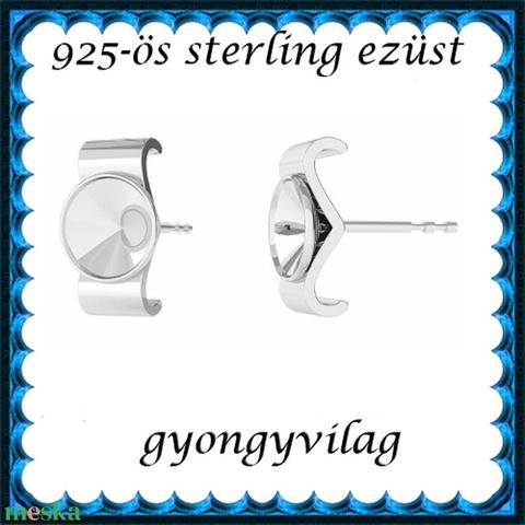 925-ös sterling ezüst ékszerkellék: fülbevalóalap bedugós EFK B 47 - Meska.hu