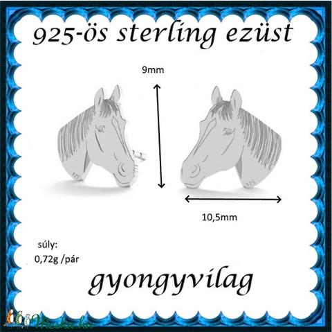 925-ös sterling ezüst: fülbevaló  EF 06 - Meska.hu
