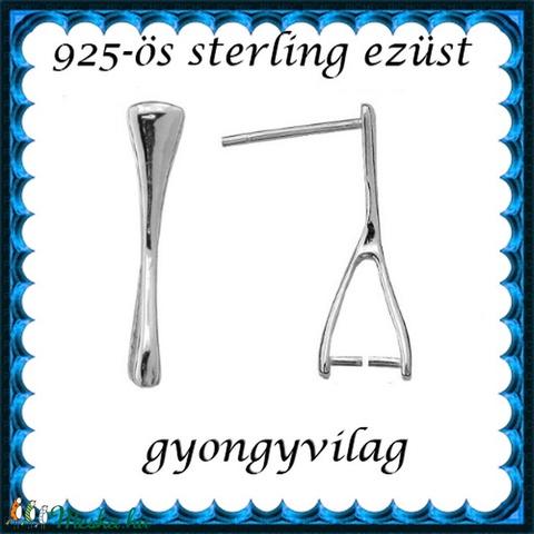 925-ös sterling ezüst ékszerkellék: fülbevalóalap bedugós EFK B 49 - Meska.hu