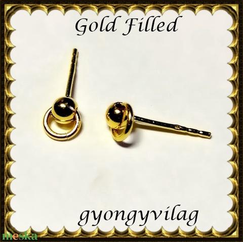Gold Filled 925-ös sterling ezüst ékszerkellék: fülbevalóalap bedugós EFK B 39g - Meska.hu
