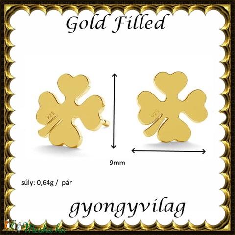 925-ös sterling ezüst: fülbevaló  EF 10 gold - Meska.hu