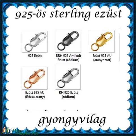 925-ös ezüst 1soros lánckapocs ELK 1S 15-15 - gyöngy, ékszerkellék - egyéb alkatrész - Meska.hu