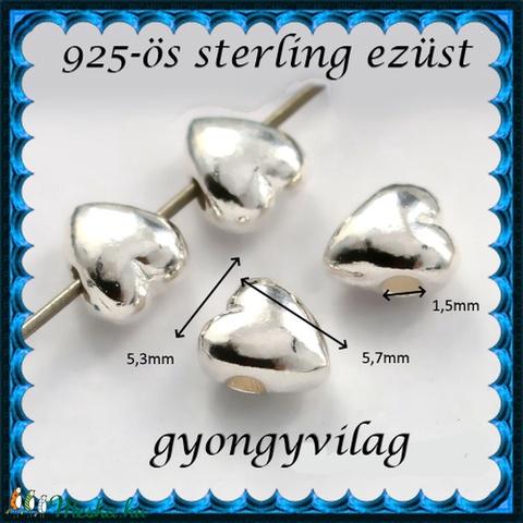 925-ös ezüst köztes / gyöngy / dísz EKÖ 85 - Meska.hu