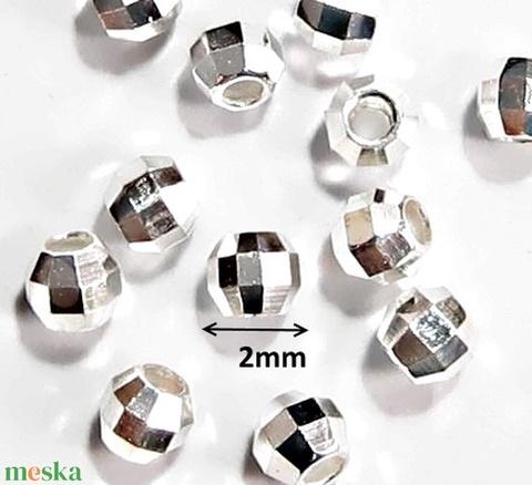 925-ös ezüst köztes/gyöngy/díszitőelem  EKÖ 15 2 mm - Meska.hu