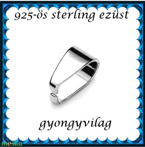 925-ös sterling ezüst ékszerkellék: medáltartó, medálkapocs EMK 79 - gyöngy, ékszerkellék - egyéb alkatrész - Meska.hu