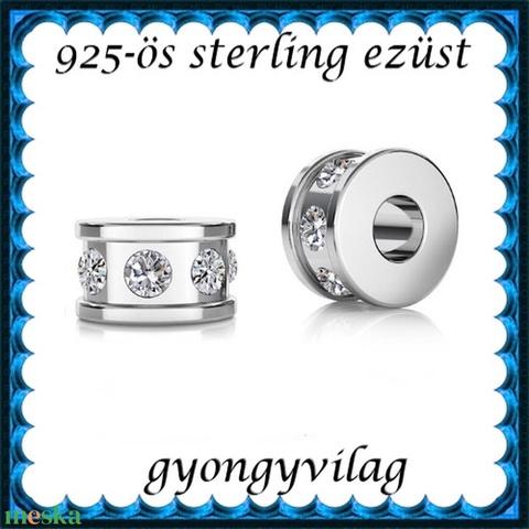 925-ös ezüst köztes / gyöngy / dísz EKÖ 91 - gyöngy, ékszerkellék - fém köztesek - Meska.hu