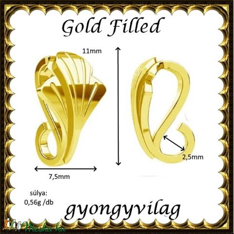 925-ös sterling ezüst ékszerkellék: medáltartó, medálkapocs EMK 104 g Gold Filled - Meska.hu