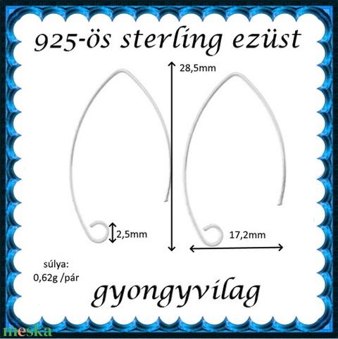 925-ös finomságú sterling ezüst fülbevaló kapocs EFK A 50-1 - Meska.hu