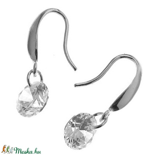 925-ös sterling ezüst ékszerkellék: fülbevalóalap akasztós EFK A 93-1 - gyöngy, ékszerkellék - egyéb alkatrész - Meska.hu