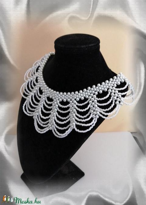 Esküvői gyöngy nyaklánc SL-GY09-1-40 - Meska.hu