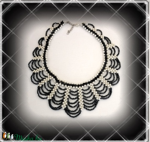 Gyöngyből fűzött  nyaklánc SL-GY09-2-36 - ékszer - nyaklánc - gyöngyös nyaklác - Meska.hu