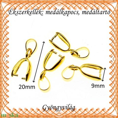 Aranyozott medálkapocs 4db/cs BMK 05-20 - gyöngy, ékszerkellék - egyéb alkatrész - Meska.hu