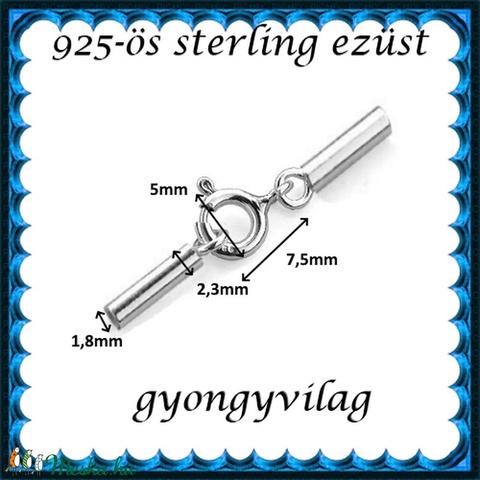 925-ös ezüst láncvég + kapocs ELK K+V 05-1,8 - Meska.hu