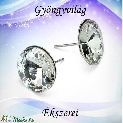925-ös sterling ezüst-Swarovszki kristály fülbevaló SF-ESWR01-16 - Meska.hu